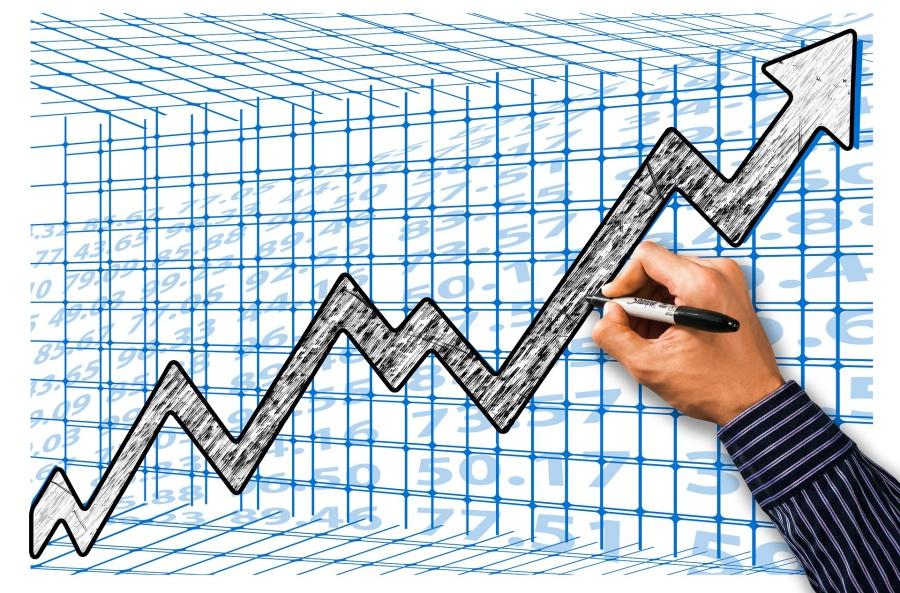 rast na grafikonu